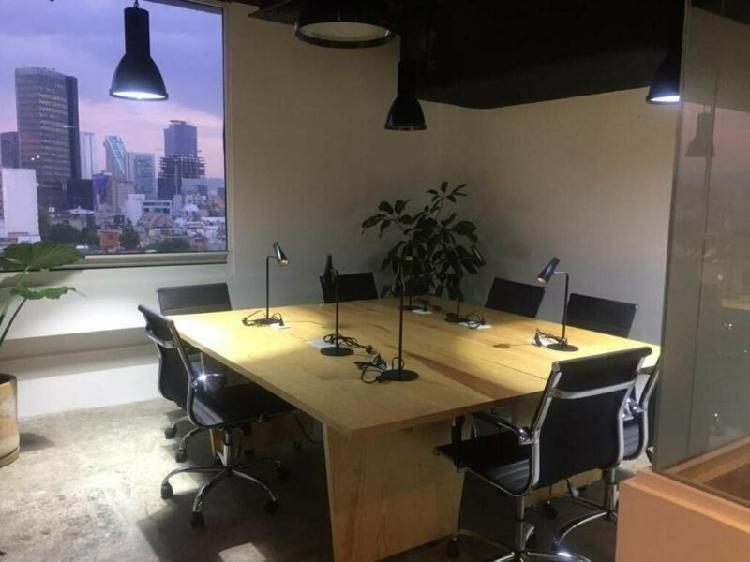 Renta oficina roma norte alvaro obregon 8 personas