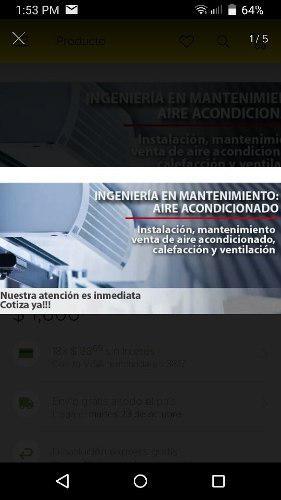 Servicio de instalacion, mantenimiento de aire acondicionado