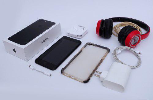 Iphone 7 plus 32 gb + audifonosmonster + a originales + case