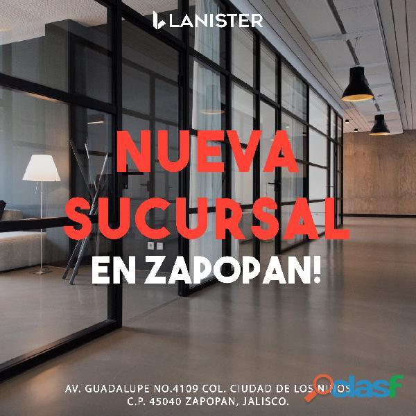 Nueva oficina en nueva sucursal!!!! lanister suc guadalupe no te pierdas nuestras promociones