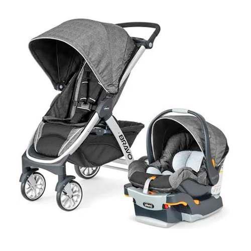 Carriola con porta bebe y accesorio para montar de auto