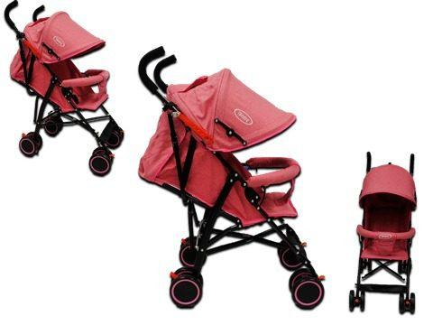 Carriola de baston bebe ibaby plegable ligera rosa