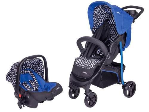 Carriola de bebe evenflo explorer portabebe/autoasiento azul