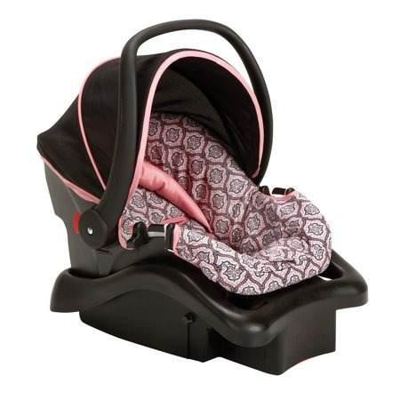 Portabebe base asiento carro recien nacido rosa niña oferta