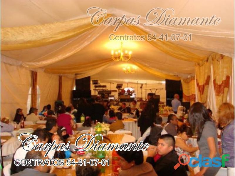 Alquiler y renta de carpas elegantes ecatepec