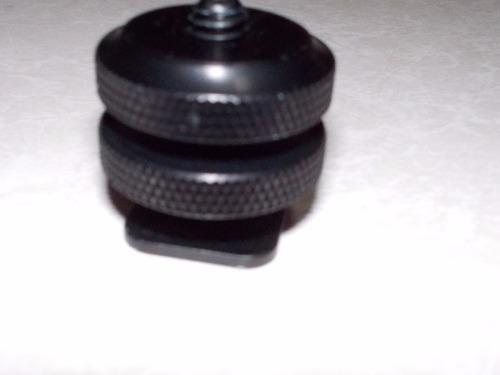 Adaptador tornillo 1/4 p/ zapata cámara digital (2 piezas)