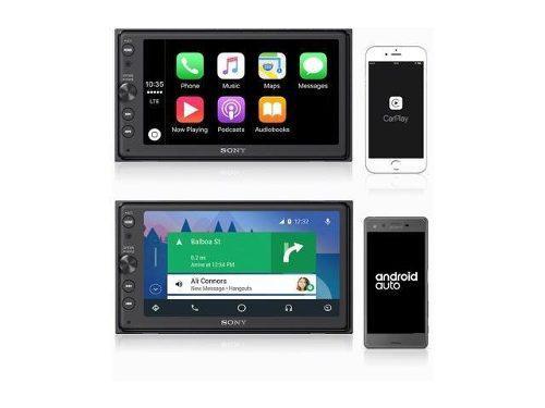 Auto estereo sony pantalla carplay apple y android xav-ax100