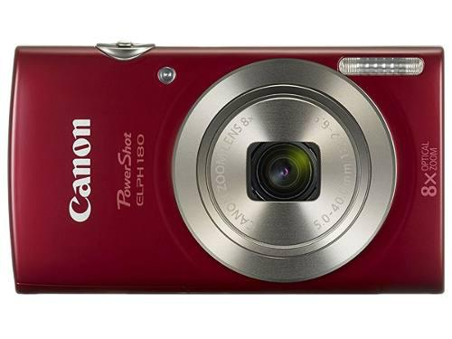 Camara digital canon powershot elph 180 20mpx 8x zoom red