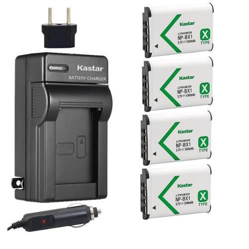 Cargador + 4 baterías sony ch-4b bx1 np-bx1 kastar oferta!