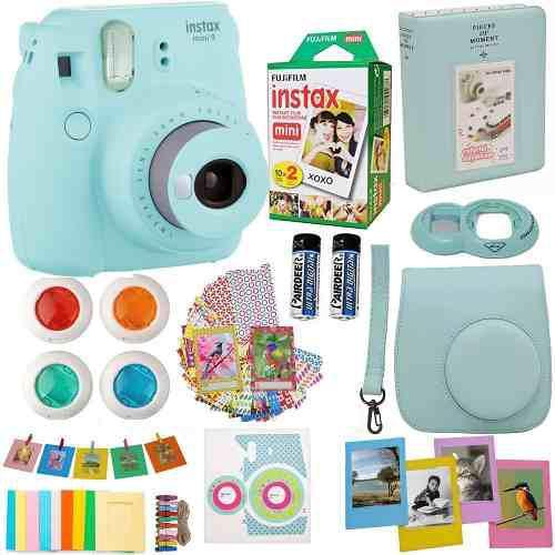 Fujifilm instax mini 9 camara instantanea accesorios azul ic