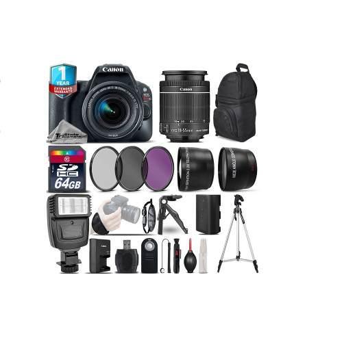 Kit fotográfico canon eos rebel sl2 dslr + lente 18-55mm