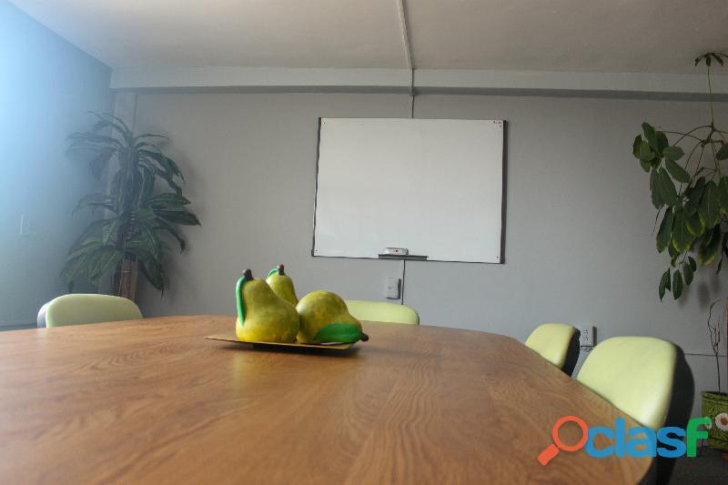 Renta de oficinas con servicio de sala de juntas