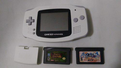 Consola gameboy advance color blanco con tapa y 2 juegos