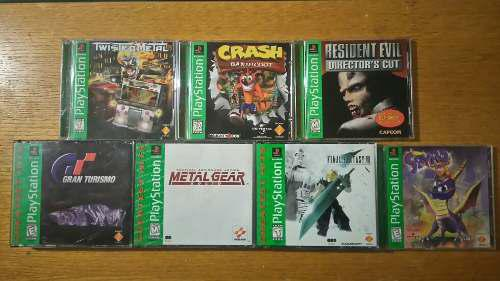 Crash bandicoot resident evil metal gear final vii lote ps1