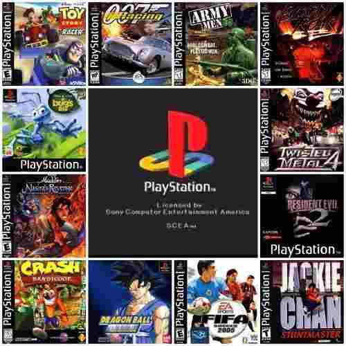 Playstation pack 81 juegos portable pc ps1 play station