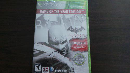 Batman arkham city goty edition xbox 360 nuevo sellado