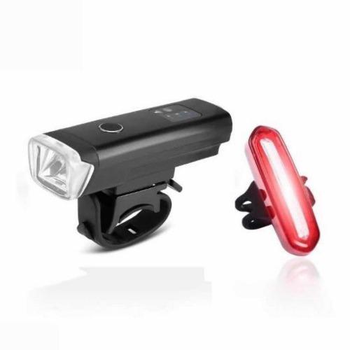 Kit luces led frontal delantera trasera usb bicicleta sensor