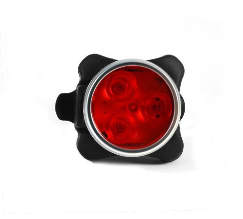 Lampara bicicleta luz trasera recargable usb led roja blanca