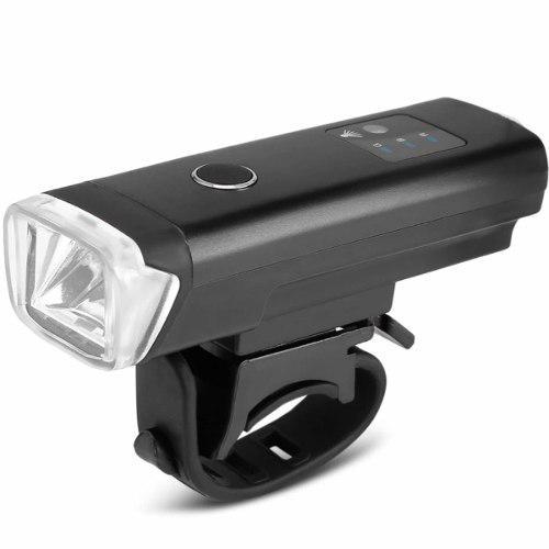Lampara luz delantera frontal bicicleta led 350 l sensor usb