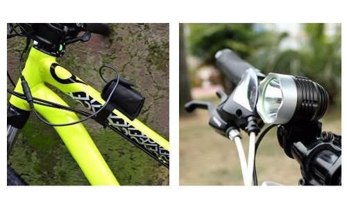 Lámpara bicicleta recargable 18800mah led t6 3000 lumenes