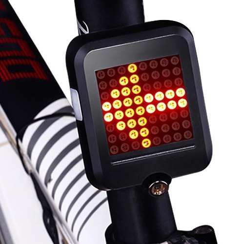 Luz 64 leds trasera inteligente bicicleta usb laser
