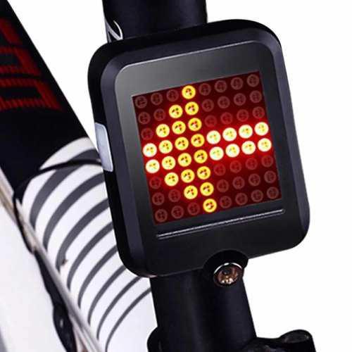 Luz trasera bicicleta direccionales inteligente 64 leds usb