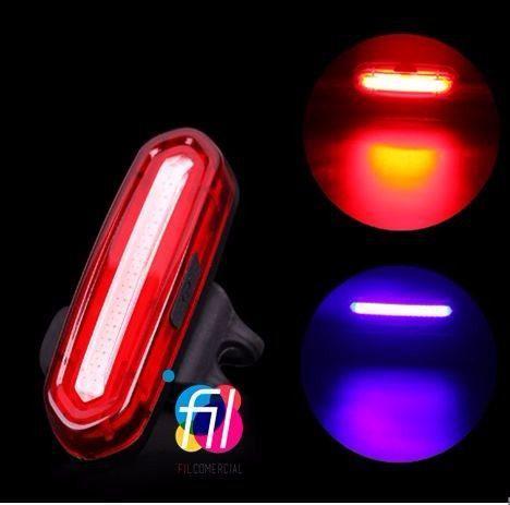 Luz trasera bicicleta ultrabrillante luz roja y azul 6 modos