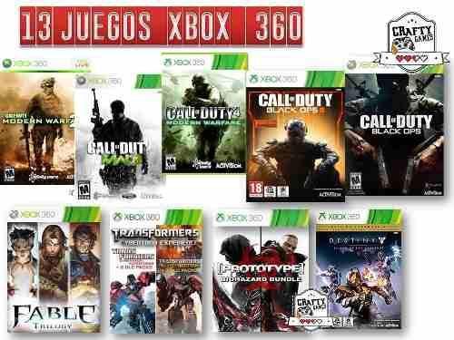 Paquete 13 juegos xbox 360 mega oferta online originales