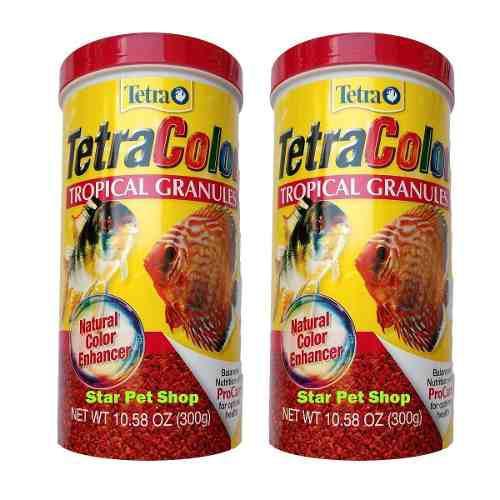 2 unid de alimento peces tetracolor 300grs env gratis