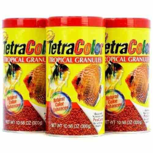3 unid de alimento peces tetracolor 300grs env gratis