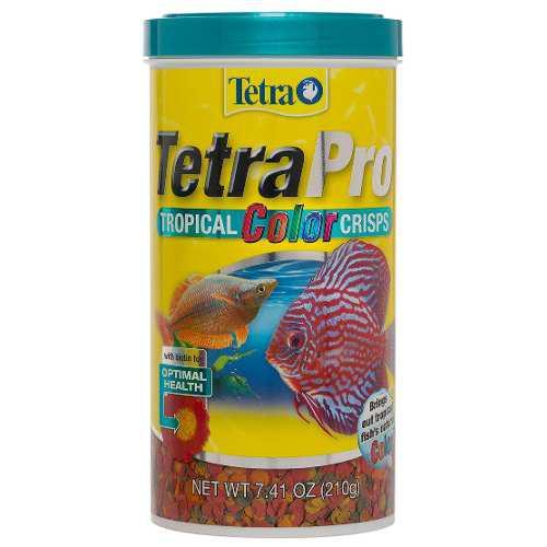 Alimento peces tetrapro tropical color crisps 210gr