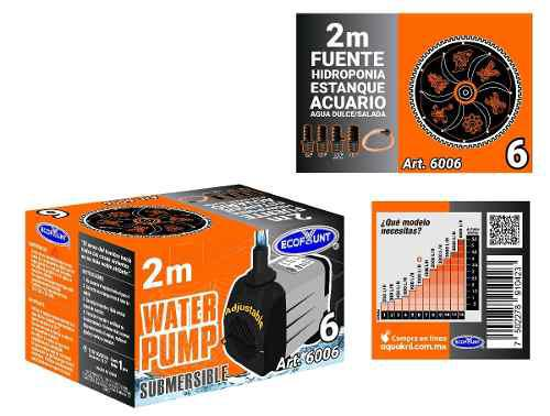 Bomba de agua sumergible acuarios fuentes 2.0 m 6006