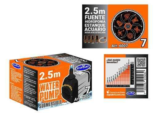 Bomba de agua sumergible acuarios fuentes 2.50 m 6007