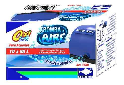 Bomba de aire para acuarios 10 - 80 l aquakril 1588