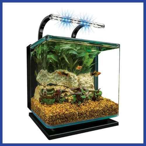 Pecera acuario 11 lts con sistema iluminado * envío gratis