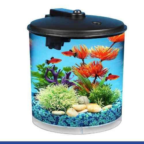 Pecera acuario 360º de 7.5 lts iluminación led* envío