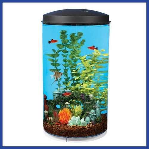 Pecera acuario 360º luz led y filtro interno * envío