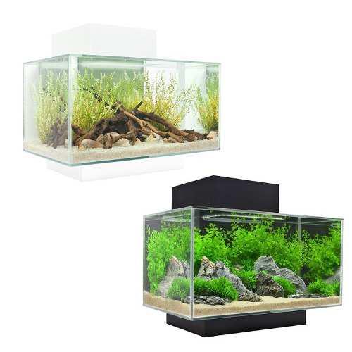 Pecera acuario elegante 23l filtro,led,plantas casa oficina