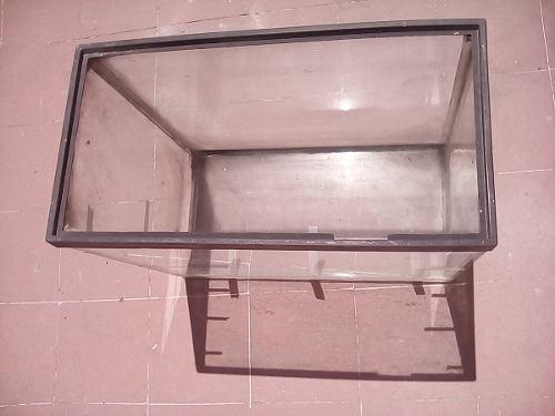 Pecera vidrio grueso 50x45x25 grande usada solo cdmx