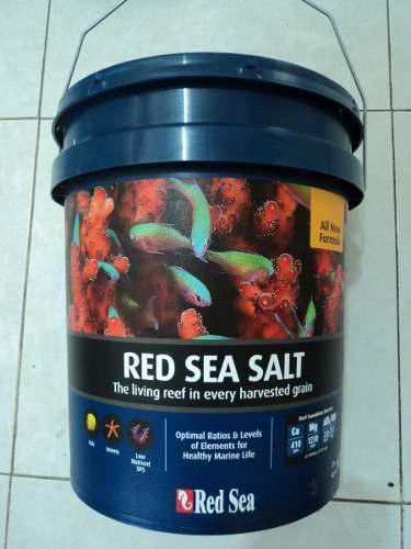 Sal marina red sea 22kg para acuarios de 660 litros