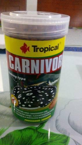 Tropical carnivore 300g alimento peces rayas siluros