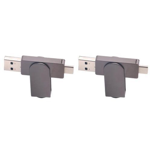 2x usb type-c flash drive alloy rotable portátil memoria s