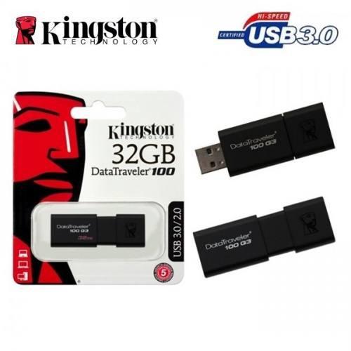 Memoria kingston 32gb usb 3.0 dt100g3/32gb alta velocidad