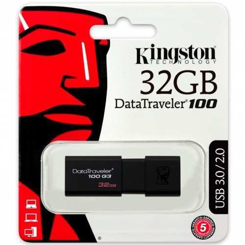 Memoria usb 32gb kingston dt100 usb 3.0 nueva dt100g3/32gb