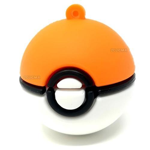 Memorias usb figuras 8 gb pokemon go pokebola naranja