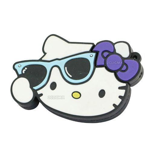 Memorias usb figuras hello kitty moño morado 8 gb