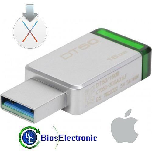 Usb 16gb instalador mac os el capitan 10.11 alta velocidad