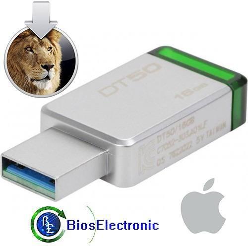 Usb 16gb instalador mac os lion 10.7 alta velocidad