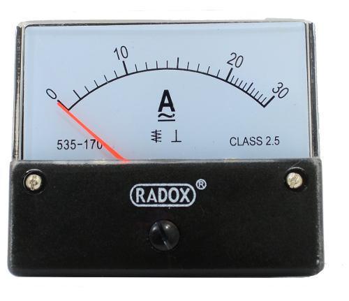 Amperímetro con carátula análoga para tablero de 0a30 a
