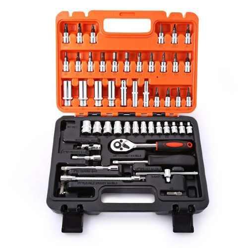 Kit de herramientas p/reparación d/moto o auto 53 piezas
